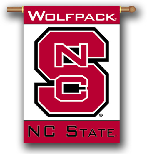 """North Carolina State Wolfpack 2-Sided 28"""" X 40"""" Banner W/ Pole Sleeve"""