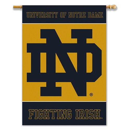 """Notre Dame 2-Sided 28"""" X 40"""" Banner W/ Pole Sleeve"""