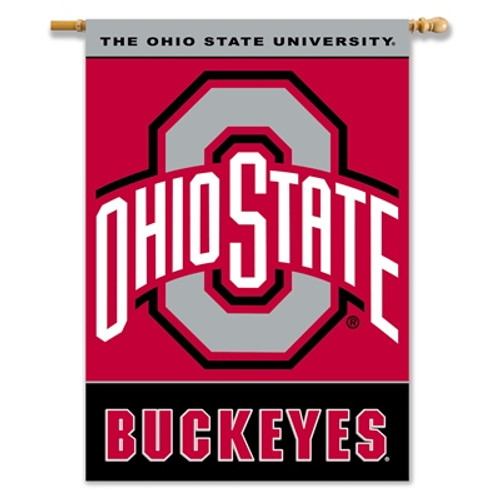 "Ohio State Buckeyes 2-Sided 28"" X 40"" Banner W/ Pole Sleeve"