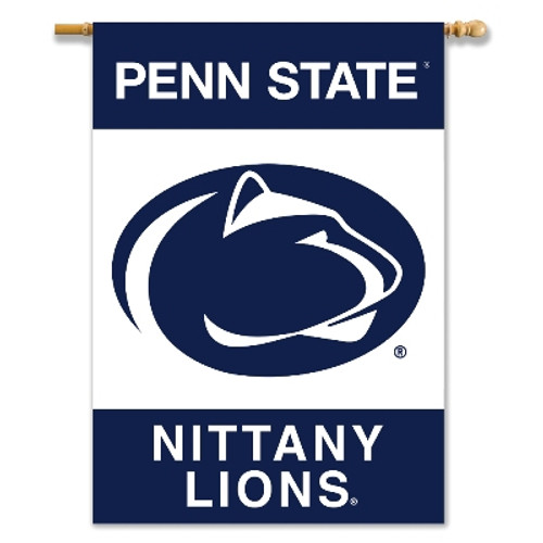 """Penn State Nittany Lions 2-Sided 28"""" X 40"""" Banner W/ Pole Sleeve"""