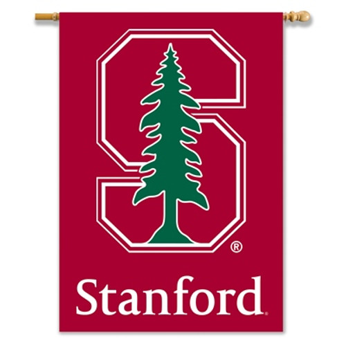 "Stanford Cardinal 2-Sided 28"" X 40"" Banner W/ Pole Sleeve"
