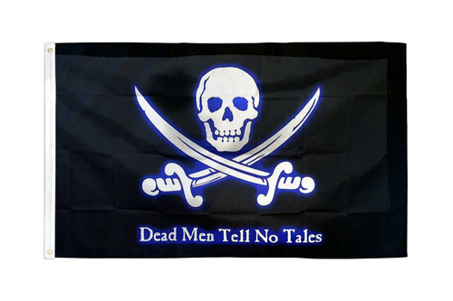 Dead Men Tell No Tales Pirate Flag 2x3ft Poly