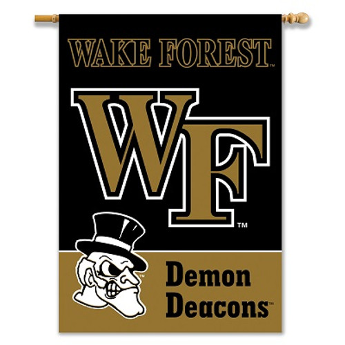 """Wake Forest Deacons 2-Sided 28"""" X 40"""" Banner W/ Pole Sleeve"""