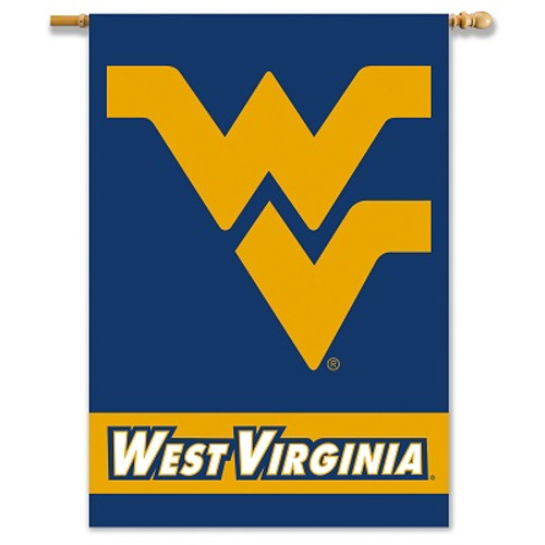 """West Virginia Mountaineers 2-Sided 28"""" X 40"""" Banner W/ Pole Sleeve"""