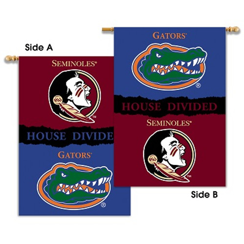 """Florida - Florida St. 2-Sided 28"""" X 40"""" Banner W/ Pole Sleeve House Divided"""