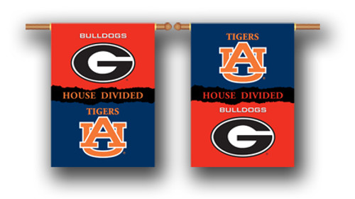 "Georgia - Auburn 2-Sided 28"" X 40"" Banner W/ Pole Sleeve House Divided"
