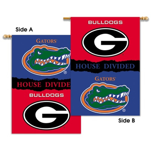 "Georgia - Florida 2-Sided 28"" X 40"" Banner W/ Pole Sleeve House Divided"