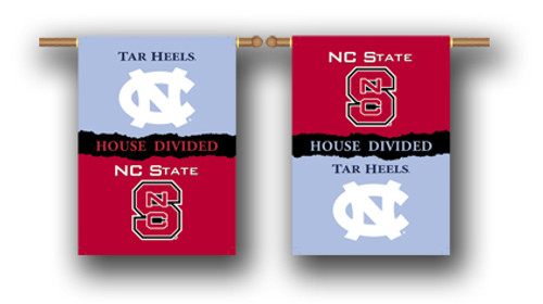 "North Carolina - Nc State 2-Sided 28"" X 40"" Banner W/ Pole Sleeve House Divided"