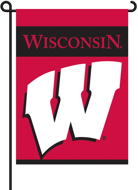 Wisconsin Badgers 2-Sided Garden Flag