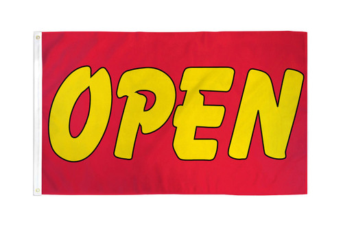 Open (Red & Yellow) Flag 2x3ft Poly