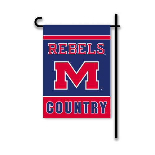 Mississippi Rebels 2-Sided Country Garden Flag