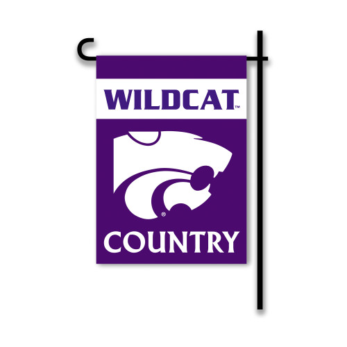 Kansas State Wildcats  2-Sided Country Garden Flag