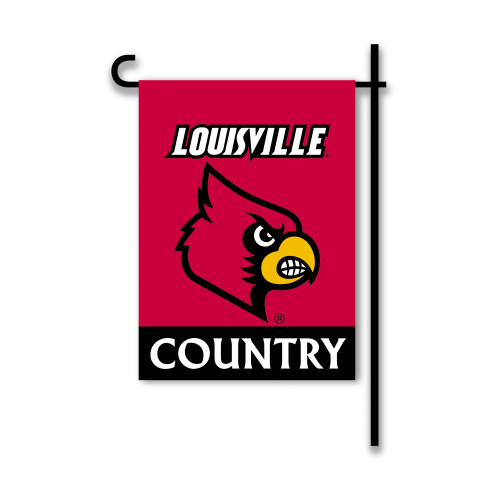 Louisville Cardinals 2-Sided Country Garden Flag