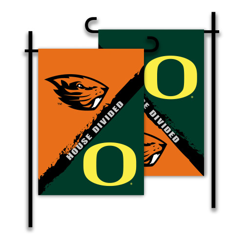 Oregon - Oregon State 2-Sided Garden Flag - Rivalry House Divided