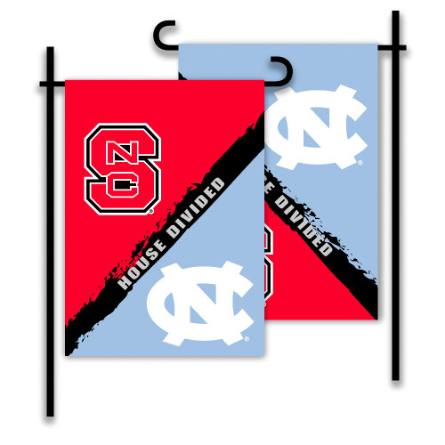 North Carolina - NC State 2-Sided Garden Flag - Rivalry House Divided