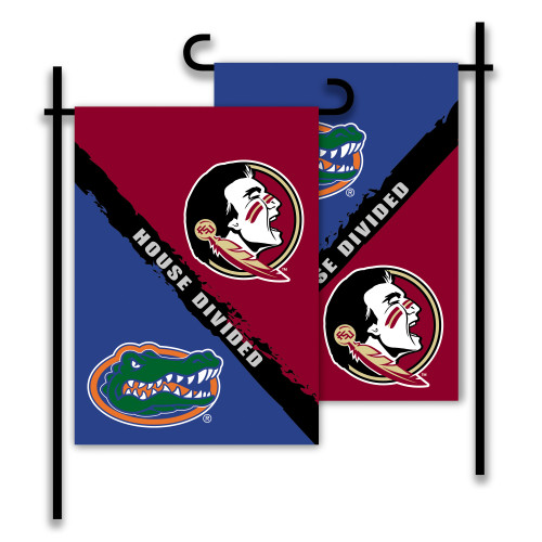 Florida - Florida State 2-Sided Garden Flag - Rivalry House Divided