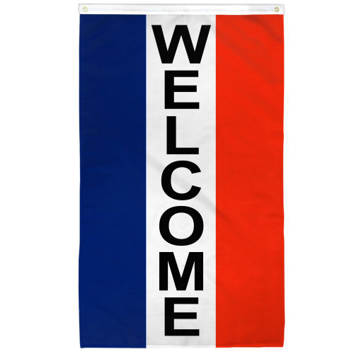 Welcome (Vertical) Flag 2x3ft Poly