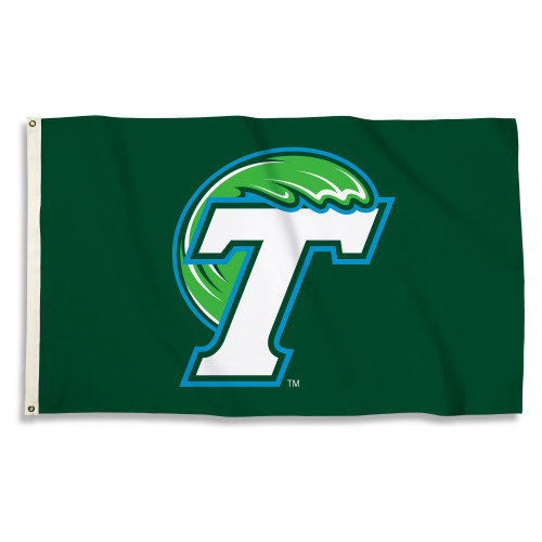 Tulane Green Wave 3 Ft. X 5 Ft. Flag W/Grommets