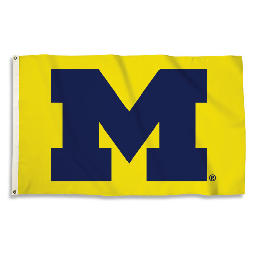 Michigan Wolverines 3 Ft. X 5 Ft. Flag W/Grommets