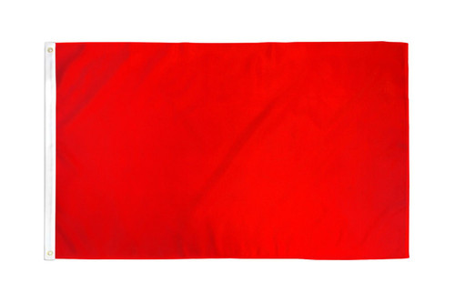 Red Solid Color Flag 2x3ft Poly