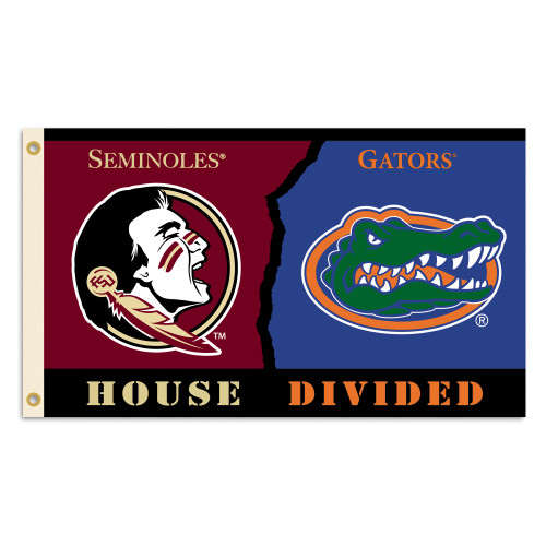 Florida - Florida State 3 Ft. X 5 Ft. Flag W/Grommets - Rivalry House Divided