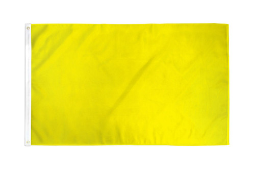 Yellow Solid Color Flag 2x3ft Poly