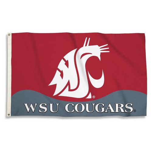 Washington State Cougars 3 Ft. X 5 Ft. Flag W/Grommets