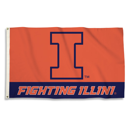 Illinois Fighting Illini 3 Ft. X 5 Ft. Flag W/Grommets