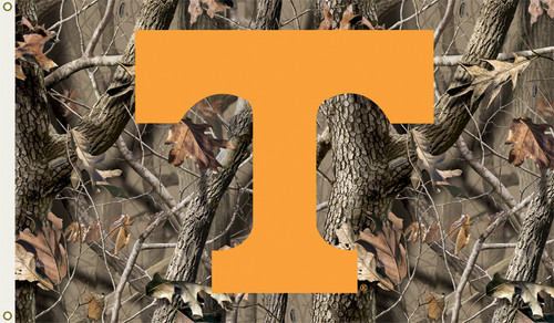 Tennessee Volunteers 3 Ft. X 5 Ft. Flag W/Grommets - Realtree Camo Background