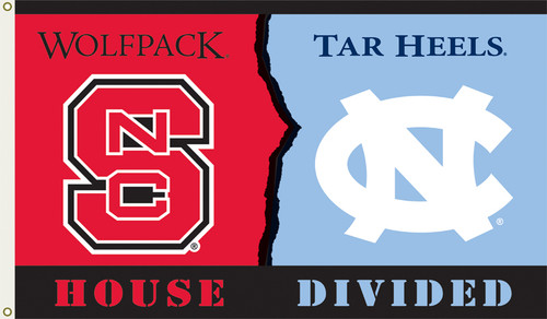 North Carolina - NC State 3 Ft. X 5 Ft. Flag W/Grommets - Rivalry House Divided