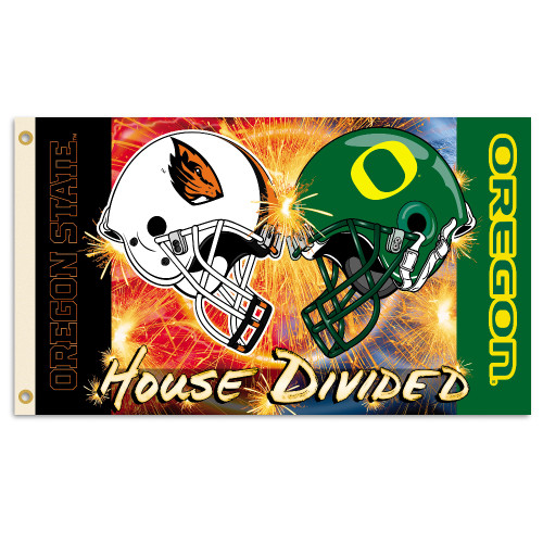 Oregon - Oregon State 3 Ft. X 5 Ft. Flag W/Grommets - Rivalry House Divided