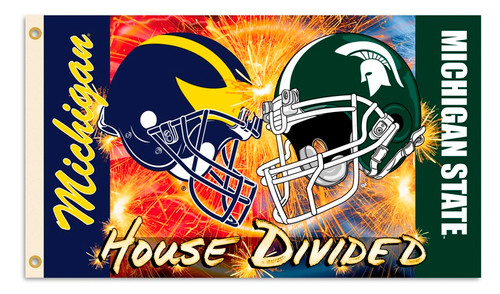Michigan - Michigan State 3 Ft. X 5 Ft. Flag W/Grommets - Helmet House Divided