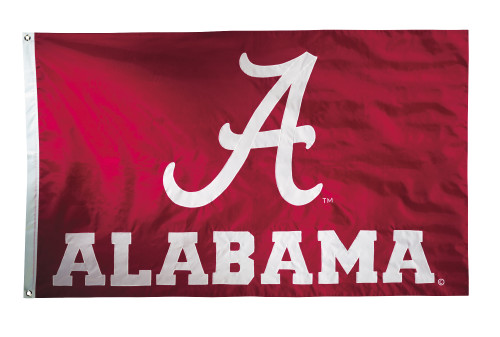 Alabama Crimson Tide 2-sided Nylon Applique 3 Ft x 5 Ft Flag w/ grommets