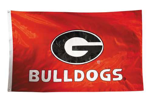Georgia Bulldogs 2-sided Nylon Applique 3 Ft x 5 Ft Flag w/ grommets