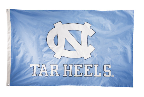 North Carolina Tar Heels 2-sided Nylon Applique 3 Ft x 5 Ft Flag w/ grommets