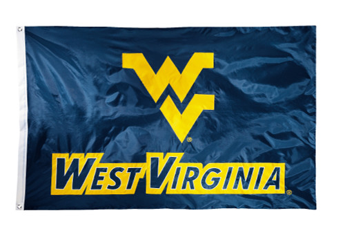 West Virginia Mountaineers 2-sided Nylon Applique 3 Ft x 5 Ft Flag w/ grommets