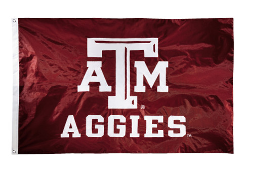 Texas A&M Aggies 2-sided Nylon Applique 3 Ft x 5 Ft Flag w/ grommets