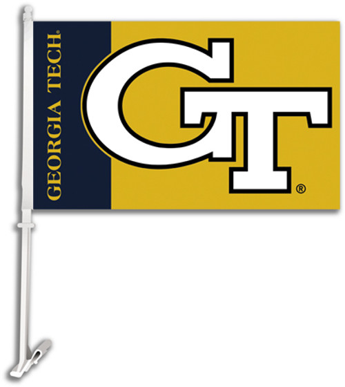 Georgia Tech Yellow Jackets Car Flag