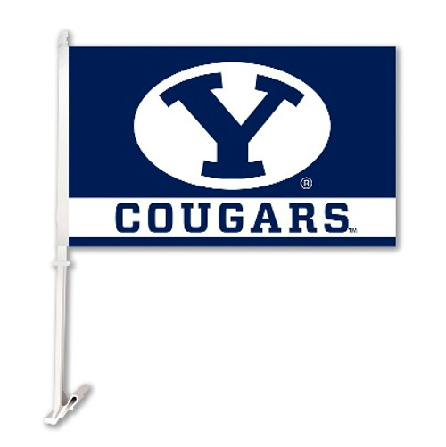 Brigham Young Cougars Car Flag