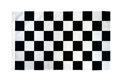 Black & White Checkered Flag 3x5ft Poly