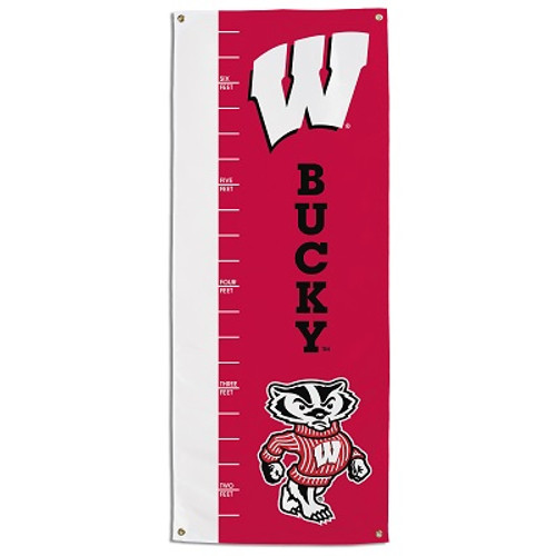 Wisconsin Badgers Growth Chart Banner