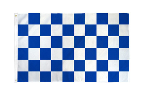 Blue & White Checkered Flag 3x5ft Poly