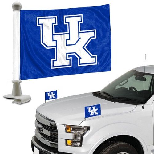 "Kentucky Wildcats Ambassador 4"" x 6"" Car Flag Set of 2"