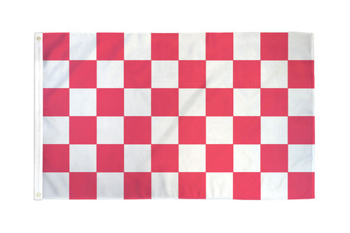 Pink & White Checkered Flag 3x5ft Poly