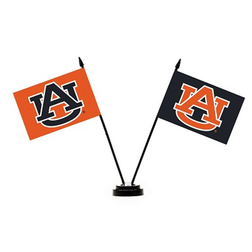 Auburn Tigers 2 Flag Desk Set