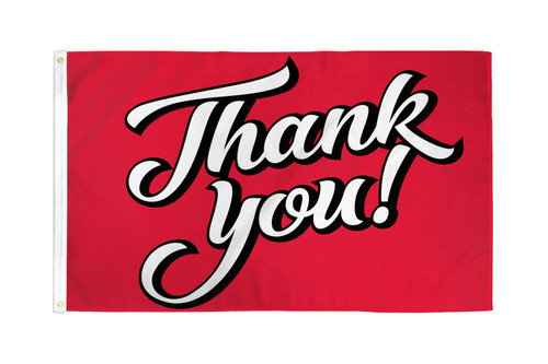 Thank You! (Red) Flag 3x5ft Poly