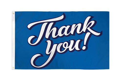 Thank You! (Blue) Flag 3x5ft Poly