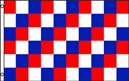 Red White & Blue Checkered Flag 3x5ft Poly