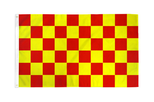 Red & Yellow Checkered Flag 3x5ft Poly