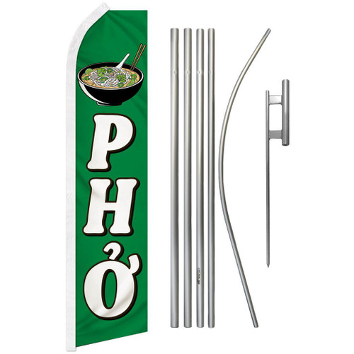 Pho Super Flag & Pole Kit